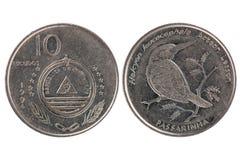 10 Escudos монетки от Кабо-Верде Стоковое Изображение