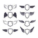 Escudos con las alas libre illustration
