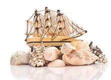 Escudos da embarcação e do mar de navigação Fotografia de Stock