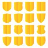 Escudos de oro fijados libre illustration