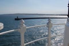 Escudos del sur desde arriba del faro del embarcadero de Tynemouth Imagenes de archivo