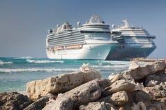 Escudos do mar no console grande do turco Fotos de Stock Royalty Free