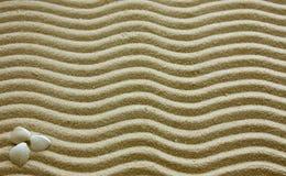 Escudos e areia Fotografia de Stock