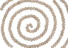 Escudos - espiral Foto de Stock Royalty Free