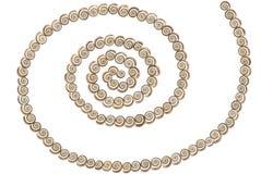 Escudos - espiral Imagem de Stock