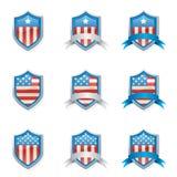 Escudos patrióticos Imágenes de archivo libres de regalías