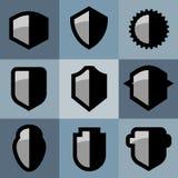 Escudos protectores del estilo plano libre illustration