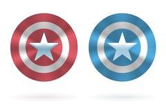 Escudos redondos realistas con las estrellas libre illustration