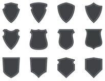 Escudos y insignias en blanco Imagenes de archivo