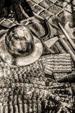 Escudos y timón medievales Imágenes de archivo libres de regalías