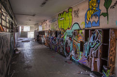 Escuela abandonada Imagen de archivo libre de regalías