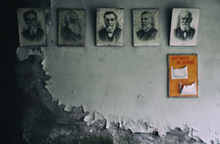 Escuela abandonada en Chernobyl-2 Foto de archivo