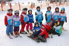 Escuela austríaca del esquí Fotos de archivo libres de regalías