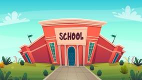 Escuela día del fondo divertido de la historieta del conocimiento, cubierta caliente de la tarjeta de la educación del otoño en c stock de ilustración