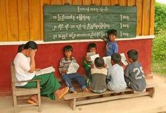 Escuela de Birmania Imagen de archivo