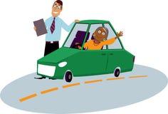 Escuela de conducción para los inmigrantes libre illustration