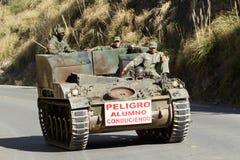 Escuela de conducción militar Imagen de archivo libre de regalías