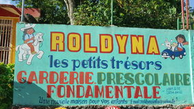 Escuela de Haití Foto de archivo libre de regalías