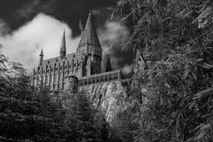 Escuela de Hogwart Imágenes de archivo libres de regalías