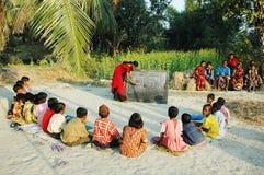 Escuela de la aldea. Imagen de archivo