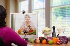 Escuela de la nutrición en línea Imágenes de archivo libres de regalías