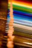 Escuela de la pluma del color del creyón del lápiz Imagen de archivo