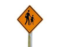 Escuela de las señales de tráfico Foto de archivo libre de regalías