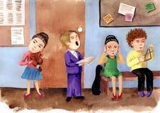 Escuela de música stock de ilustración