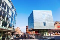Escuela de música y palacio del vidrio en Heerlen, Países Bajos fotografía de archivo