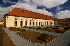 Escuela de montar a caballo del castillo de Praga Foto de archivo