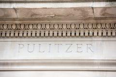 Escuela de Pulitzer de la muestra del periodismo imágenes de archivo libres de regalías