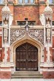 Escuela de teología vieja de la universidad del ` s de St John Cambridge, Inglaterra Fotos de archivo libres de regalías