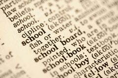 Escuela definida. Foto de archivo libre de regalías