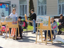 Escuela del dibujo Foto de archivo libre de regalías