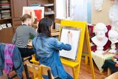 Escuela del dibujo Fotografía de archivo libre de regalías