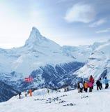 Escuela del esquí Fotos de archivo