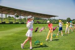 Escuela del golf Foto de archivo libre de regalías