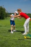 Escuela del golf Imagen de archivo