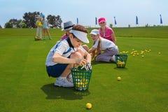 Escuela del golf Imágenes de archivo libres de regalías