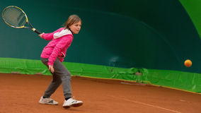 Escuela del tenis Fotografía de archivo libre de regalías