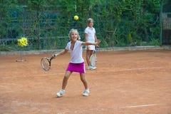 Escuela del tenis Foto de archivo