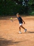 Escuela del tenis Imagen de archivo libre de regalías