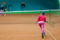 Escuela del tenis Imágenes de archivo libres de regalías