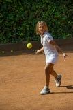 Escuela del tenis Fotos de archivo