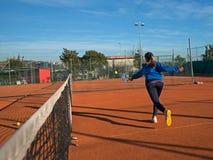 Escuela del tenis al aire libre Fotografía de archivo