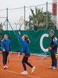 Escuela del tenis al aire libre Fotografía de archivo libre de regalías