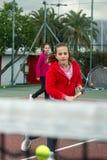 Escuela del tenis al aire libre Fotos de archivo