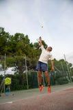 Escuela del tenis al aire libre Imágenes de archivo libres de regalías