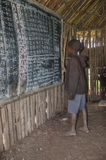 Escuela en África Fotos de archivo libres de regalías