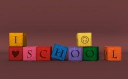Escuela en bloque Foto de archivo libre de regalías